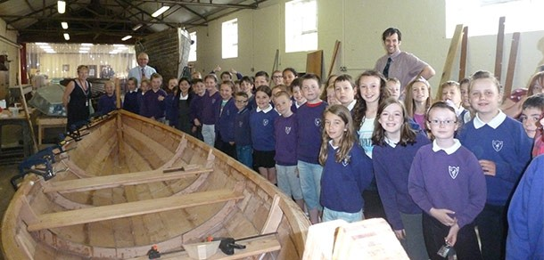 Glebe Primary with their Skiff